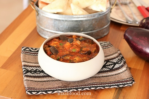 Moroccan Zaalouk - Cooked Eggplant & Tomato Salad