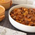 Pot roast with chestnuts and raisins