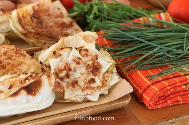 Crispy Roasted Low-Cal Cabbage