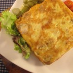 Potatoes and Mushrooms Omelet