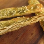 Zaatar sticks from malawach