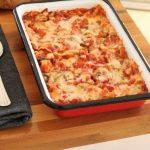Cheese and mushroom lasagna