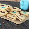 Chocolate cookies with sprinkles