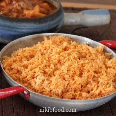 Orange rice recipe