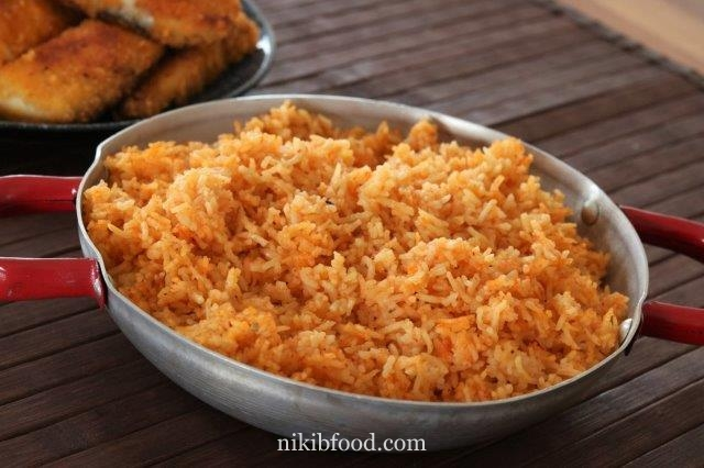Orange rice recipe