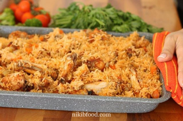 Baked chicken and rice recipe