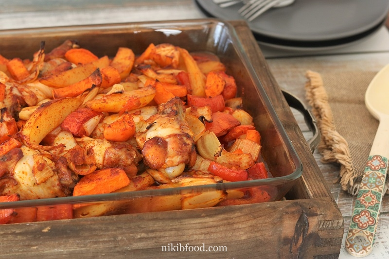 My Mom's Roasted Chicken and Vegetables