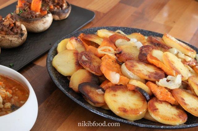 Oven Baked Potatoes and Sweet Potatoes