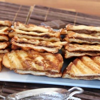 French toast with chocolate