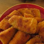 Crispy fish schnitzel