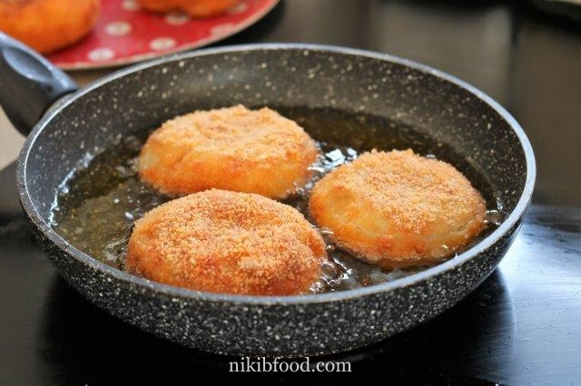Potato and meat patties