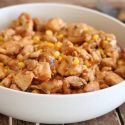 Boneless skinless chicken thighs recipe with corn