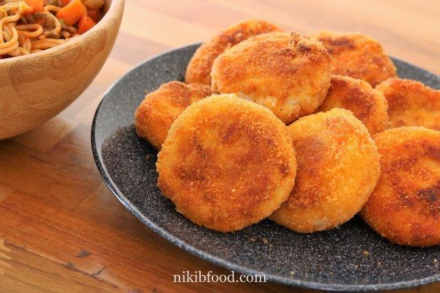 Potato and meat patties