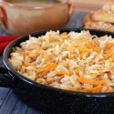 Israeli couscous with carrots