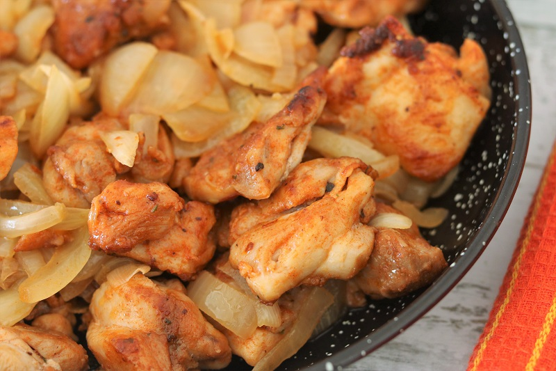 Pan-Fried Chicken and Onions