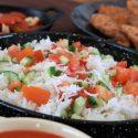 Hot Rice and Tomato Salad