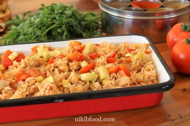 Chicken and rice and veggies recipe