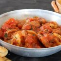 Chicken meatballs in moroccan style sauce