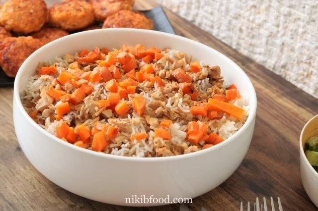 A recipe for leftover chicken with rice