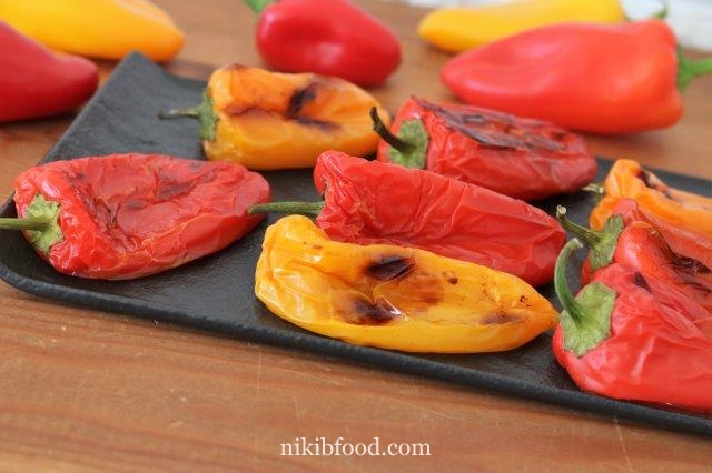 Mini peppers stuffed with cheese