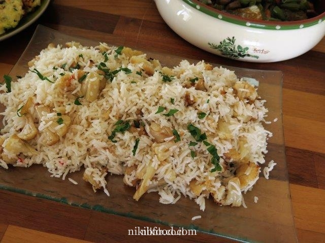 Rice with cauliflower