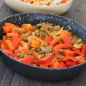 Mung Beans with Vegetables and Tahini