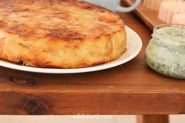 Dairy free onion crustless quiche