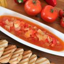 Tomato and hot pepper salad