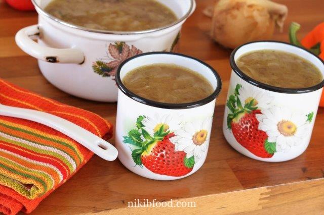 Onion mushroom soup recipe