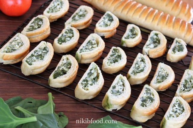 Cheese and spinach pastry