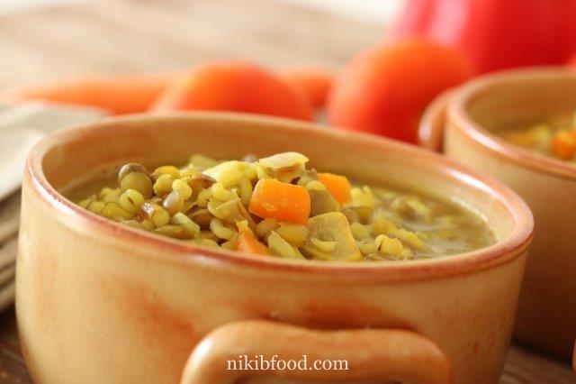Lentil Barley Soup