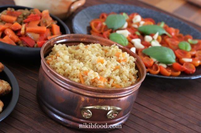 Bulgur with carrots
