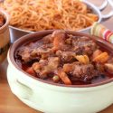 Beef stew with dried fruit recipe