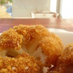 Baked cauliflower with breadcrumbs