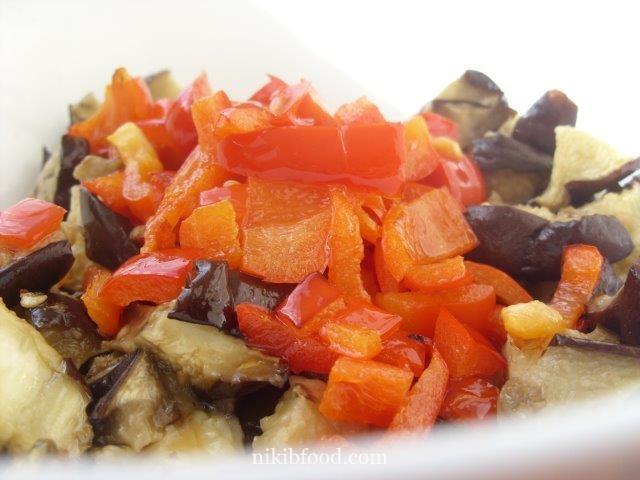 Eggplant Salad with Ketchup