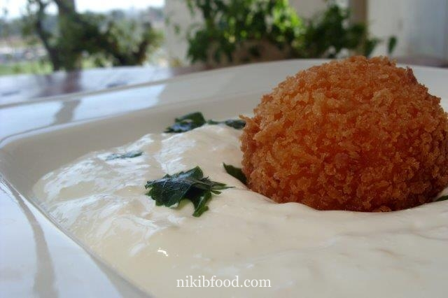 Sweet Potato Fritters with Cheese Filling