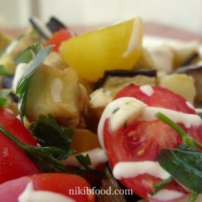 Roasted Eggplant and Tomatoes Salad