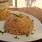 Boneless skinless chicken thighs with rice