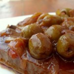 Pot roast beef with olives
