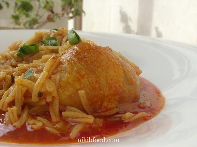Chicken thighs Israeli couscous