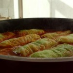 Stuffed Cabbage with Rice and Vegetables