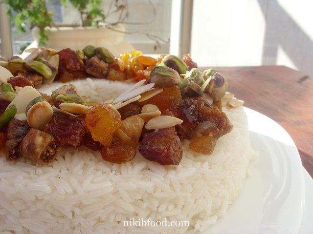 Rice with dried fruit recipe