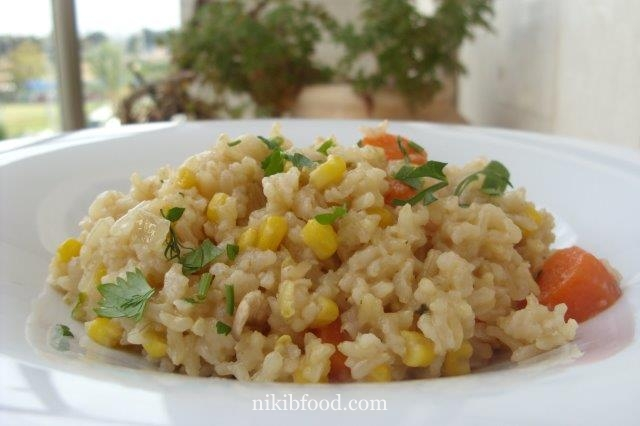 how to make brown rice with vegetables
