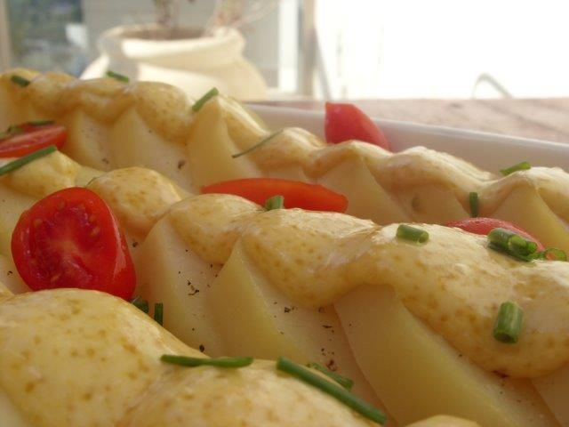 Potato salad with mustard and mayonnaise