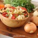 Fried cauliflower salad