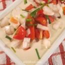 Vegetables in tahini sauce