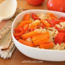 Warm bulgur salad