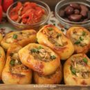 Baked Potatoes Stuffed with Mushrooms and Cheese