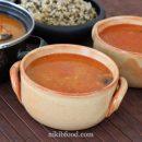 Barley and mushroom soup